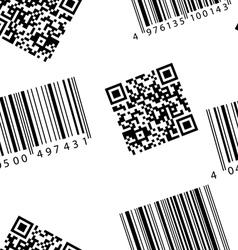 Barcode and qr-code seamless wallpaper vector