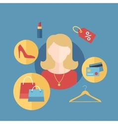 Beautiful Women Infographic Symbols vector image