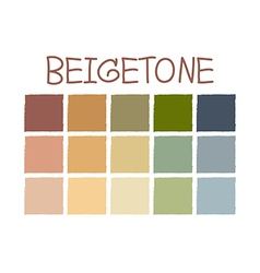 Beigetone Color Tone without Code vector image