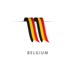 belgium ribbon flag template design vector image