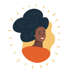 Black woman face african american girl avatar vector