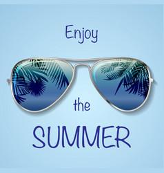 blue glasses background vector image
