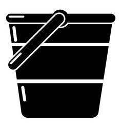 bucket icon simple black style vector image