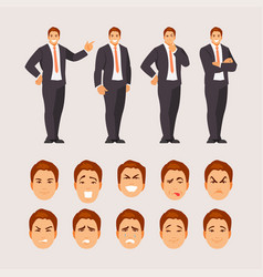 business guy set vector image