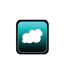button of cloud art vector image