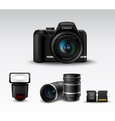 Camera And Accessory vector image