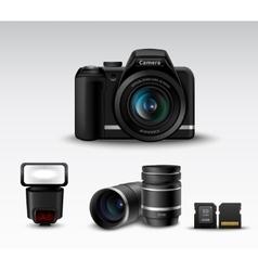 Camera And Accessory vector
