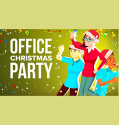 christmas corporate party merry people vector image