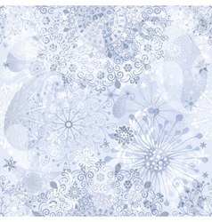 Christmas silver and gray seamless pattern vector image
