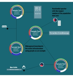 Circular infographics vector