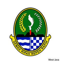 Coat arms west java is a indonesian region vector