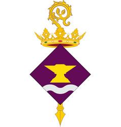 coat of arms of sant adria de besos in barcelona vector image