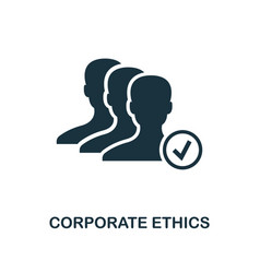 Corporate ethics icon monochrome style design vector