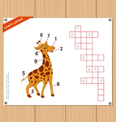 Crossword education game for children about parts vector