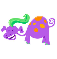Cute purple fantasy cartoon character vector