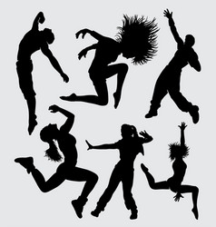 dance sport silhouette vector image