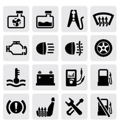 dashboard and auto icons vector image