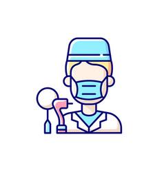 Dentist rgb color icon vector