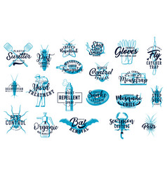 deratization and home disinfection sketch icon set vector image