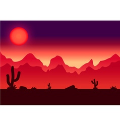 Desert parallax background vector