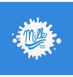 Double Underline Milk Product Logo vector