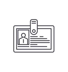 employee profile line icon concept employee vector image