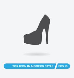 feminine shoe icon simple car sign vector image