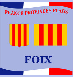 Flag of french province foix vector