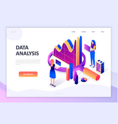 flat design isometric concept auditing vector image