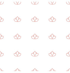 flower icon pattern seamless white background vector image