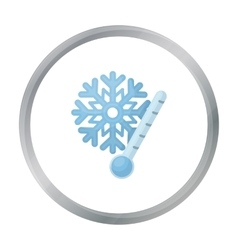 Frost icon in cartoon style isolated on white vector