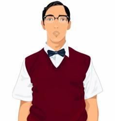 Geeky guy vector