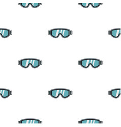 Glasses for snowboarding pattern seamless vector