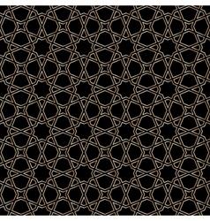 Gold moroccan mosaic vector