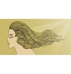Golden hair vector image