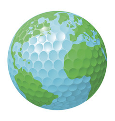golf ball world globe concept vector image