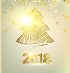 happy new year 2018 card vector image vector image