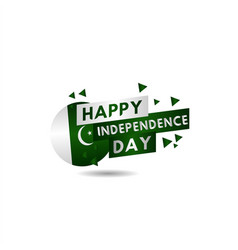 Happy pakistan independence day template design vector