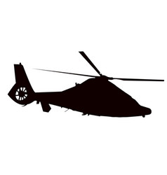 helicopter silhouette in black vector image