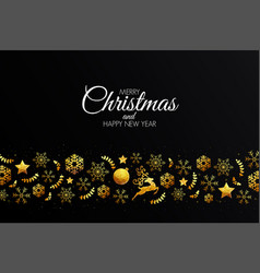 holiday christmas card made from triangles vector image