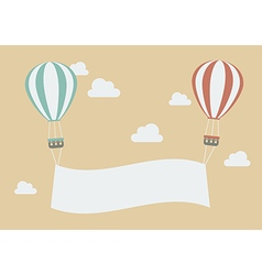 Hot air balloons with banner vector