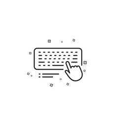 Keyboard line icon computer component device sign vector