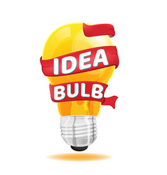 Light bulb red ribbon idea concept vector