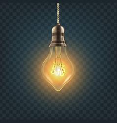 light bulb steampunk style light bulb vector image