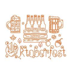 line logo icon for oktoberfest vector image
