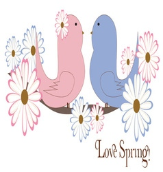 Love Spring vector image