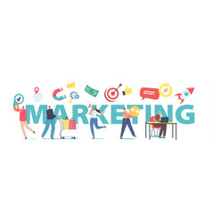 marketing public relations communication pr vector image