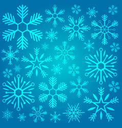merry christmas and happy new year snowflakes on vector image