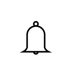 message chat notification bell outline icon for vector image