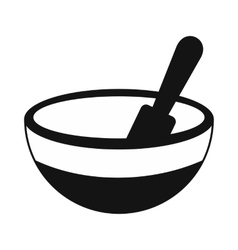 Mortar and pestle black simple icon vector
